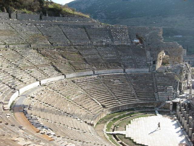 The theater in Ephesus