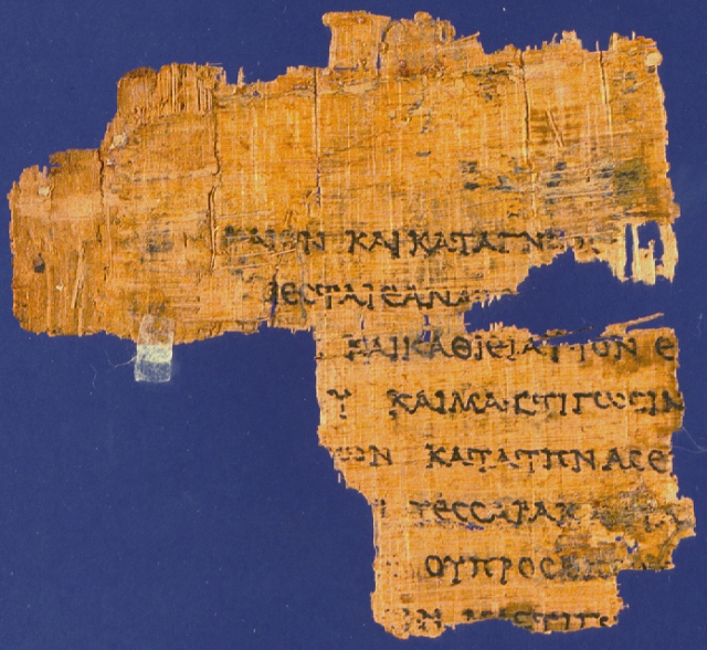 Rylands Greek Papyrus 458 fragment of the Septuagint